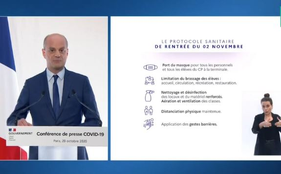 Blanquer Announces Health Protocol In Schools For Beginning Of Nov. 2 - SurgeZirc France